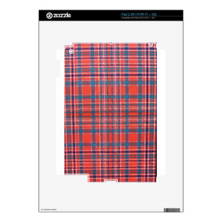 MACALISTER SCOTTISH FAMILY TARTAN iPad 2 SKINS