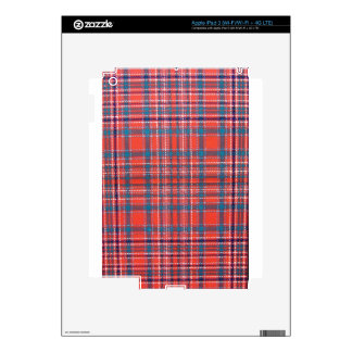 MACALISTER SCOTTISH FAMILY TARTAN iPad 3 DECAL