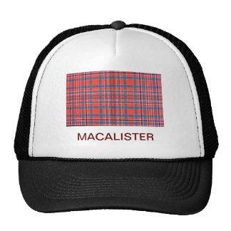 MACALISTER SCOTTISH FAMILY TARTAN TRUCKER HAT