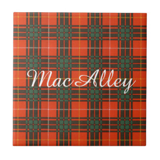MacAlley clan Plaid Scottish kilt tartan Ceramic Tile