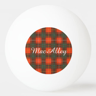 MacAlley clan Plaid Scottish kilt tartan Ping-Pong Ball