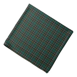 MacAlpine Clan Tartan Forest Green and Black Plaid Bandana