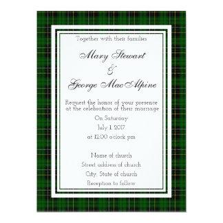 MacAlpine Scottish Wedding Invitation
