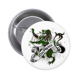 MacAlpine Tartan Lion Pinback Button