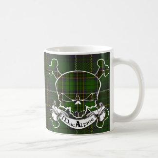 MacAlpine Tartan Skull Coffee Mug