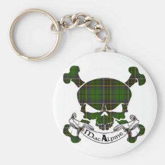MacAlpine Tartan Skull Keychain