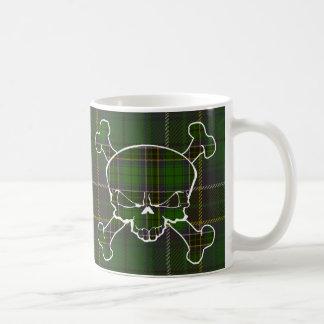 MacAlpine Tartan Skull No Banner Coffee Mug