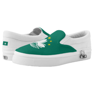 Macanese Flag Slip-On Sneakers