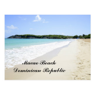 Macao Beach in the Dominican Republic Postcard