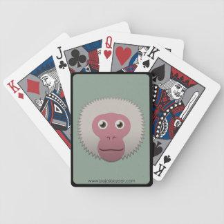 Macaque japonés de papel barajas