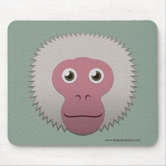 Macaque japonés de papel alfombrillas de ratón