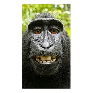 Macaque Self Portrait Business Card