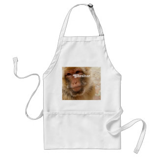 Macaques de Gibraltar Barbary Delantal