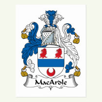 MacArdle Family Crest Postcard