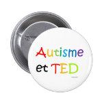 Macaron Autisme TED arc-en-ciel Pinback Button