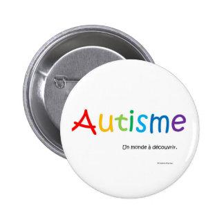 Macaron Autisme un monde à découvrir rond Pinback Button