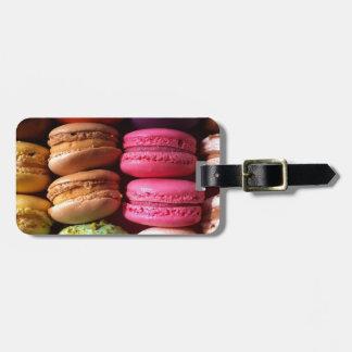 macaron cookies luggage tag