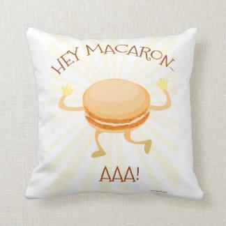 Macaron Dance Cookie Throw Pillow