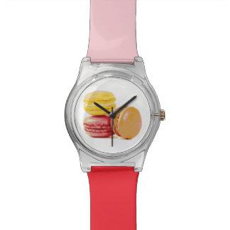 macaron dulce reloj de mano