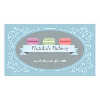 Macaron elegante, moderno, dulce, panadería, tarjetas de visita
