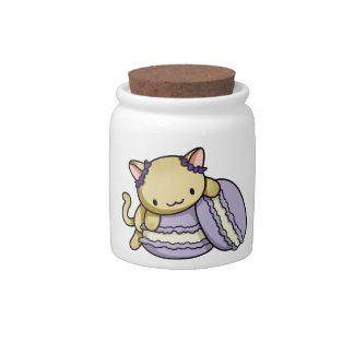 Macaron Kitty Candy Jars