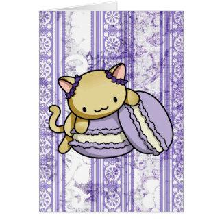 Macaron Kitty Card