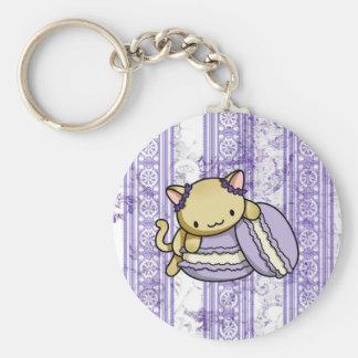 Macaron Kitty Keychain