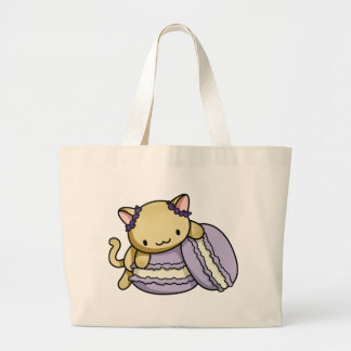 Macaron Kitty Large Tote Bag
