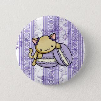 Macaron Kitty Pinback Button