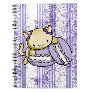 Macaron Kitty Spiral Note Books