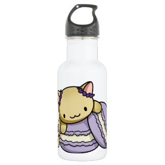 Macaron Kitty Water Bottle