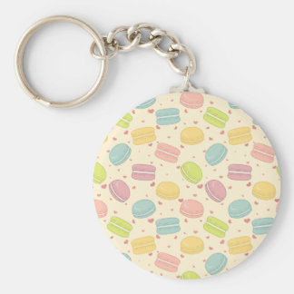 Macaron Love Basic Round Button Keychain