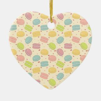 Macaron Love Ceramic Ornament