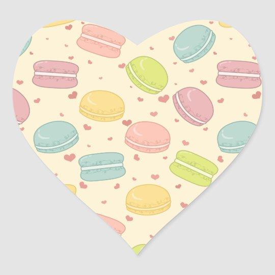 Macaron Love Heart Sticker