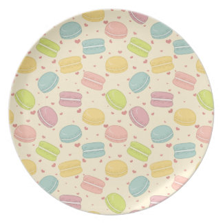 Macaron Love Melamine Plate
