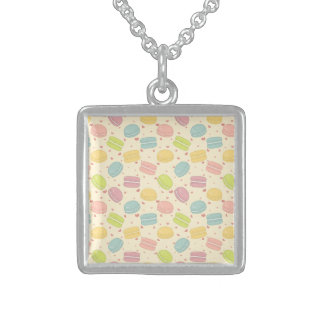 Macaron Love Square Pendant Necklace
