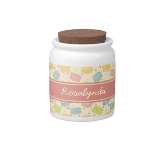 Macaron Love with Ribbon Candy Jars
