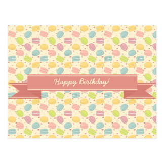 Macaron Love with Ribbon Postcard