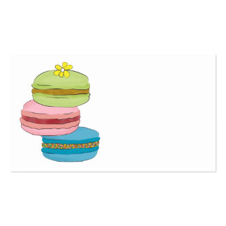 Macaron Macaroon Bakery Double-Sided Standard Business Cards (Pack Of 100)