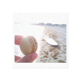 Macaron on the Beach Stretched Canvas Prints