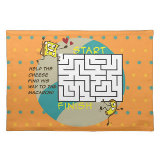 Macaroni and Cheese Activity Maze Place Mat
