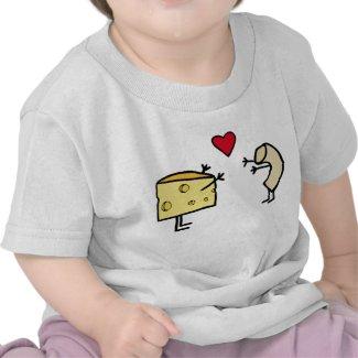 Macaroni and cheese baby tee shirt