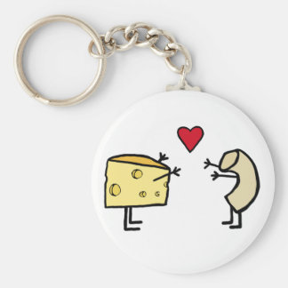 Macaroni and Cheese Basic Round Button Keychain