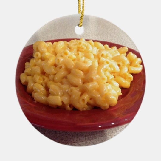 Macaroni and Cheese Ceramic Ornament