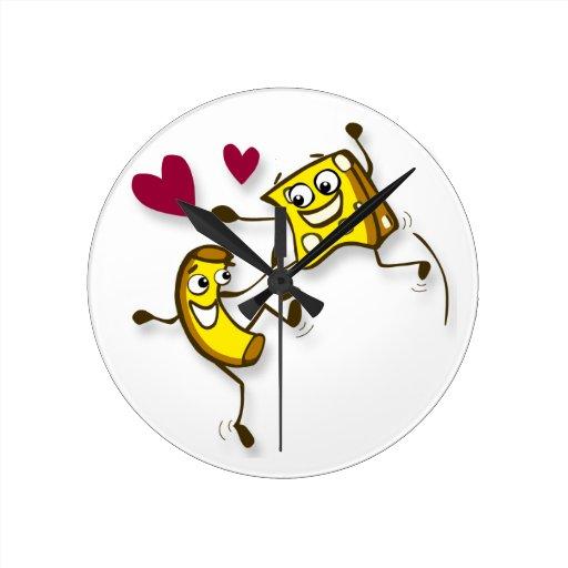 macaroni and cheese clock