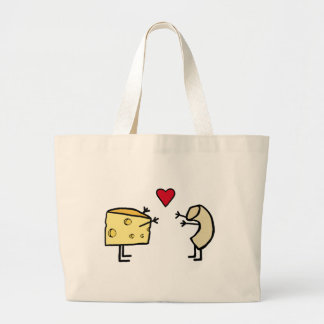 Macaroni and Cheese Large Tote Bag