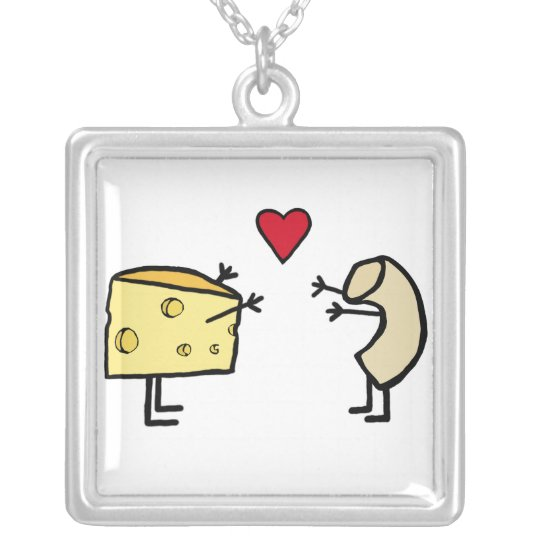 Macaroni and Cheese Necklace