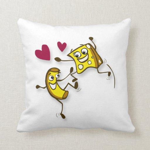 macaroni and cheese pillow
