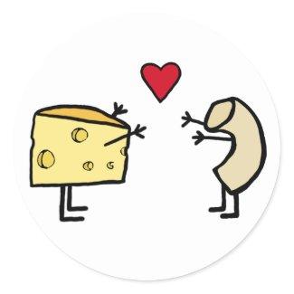 Macaroni and Cheese Round Sticker