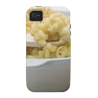 Macaroni cheese in baking dish with wooden iPhone 4/4S cases